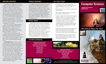 Undergraduate Brochure - Department of Computer Science ...
