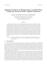 Optimal Control of Temperature in Fluid Flow Using the Second ...