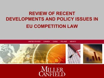 review of recent developments and policy issues in eu competition law