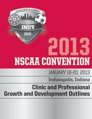 2013 Convention Clinic Outlines - National Soccer Coaches ...