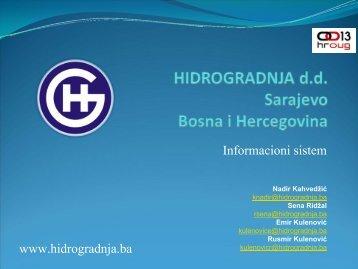607_Kahvedžić& Hidrogradnja Informacioni sistem.pdf - HrOUG