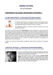 AGENDA CULTUREL - Lycée Lyautey
