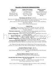 Fall 2011/Winter 2012 Breakfast Menu Steel Cut ... - Hudson Cafe