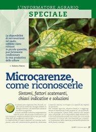 Microcarenze, come riconoscerle - L'Informatore Agrario