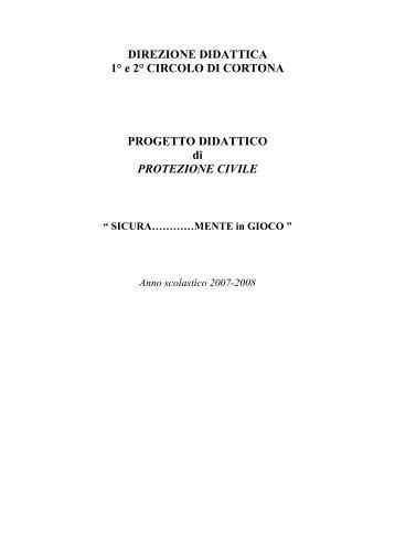Progetto didattico - Protezione Civile della Provincia di Arezzo