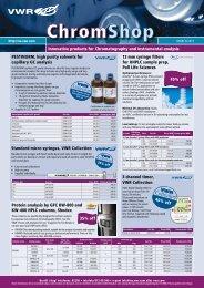 13 mm syringe filters for UHPLC sample prep, Pall ... - Vwr-cmd.com