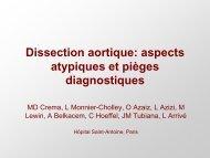 Dissection aortique: aspects atypiques et pièges diagnostiques
