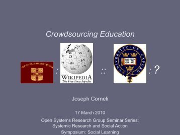 Crowdsourcing Education - Metameso.org