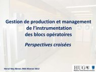 Gestion de production et management de l'instrumentation des ...