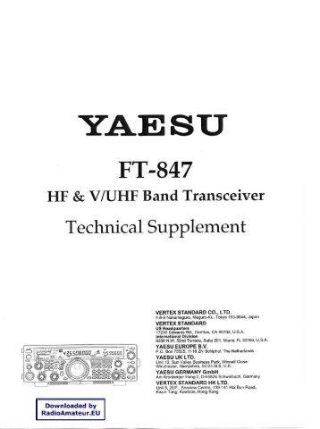 Yaesu ft-847 sch service manual download, schematics, eeprom.