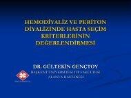 Hemodiyaliz ve Periton Diyalizinde Hasta Seçim Kriterlerinin ...