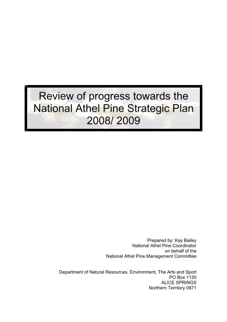 Review of progress towards the National Athel ... - Weeds Australia