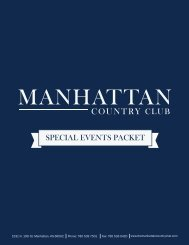 SPECIAL EVENTS PACKET - Manhattan Country Club