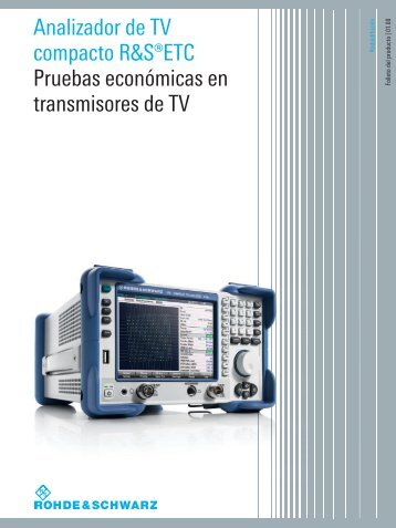 for R&S®ETC Compact TV Analyzer - Rohde & Schwarz