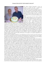 Leggi la Testimonianza del Dr. Giorgio Fruscoloni ... - ArezzoGiovani.it