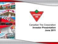 Investor Presentation - June 2011 - Canadian Tire Corporation