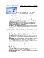 financial planning- prepare now for tax time! - Heights of Jupiter