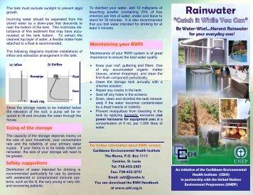 RWH Brochure - Caribbean Environmental Health Institute