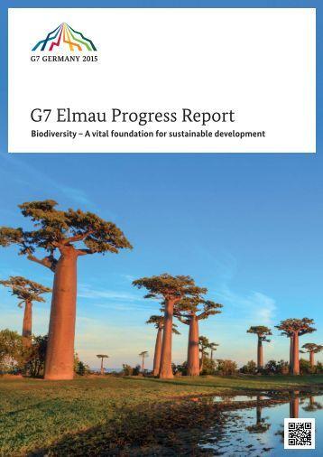 G7-Elmau-Progress-Report-2015-Biodiversity-A-vital-foundation-for-sustainable-development