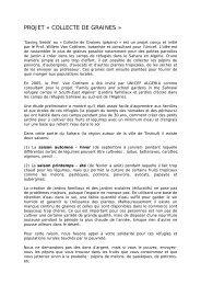 PROJET « COLLECTE DE GRAINES »