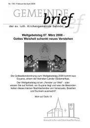 Weltgebetstag 07. März 2008 - Kirchenkreis Burgdorf