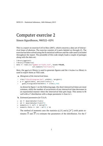 Computer exercise 2
