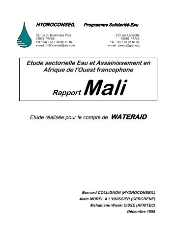 Rapport Mali - ACT - Advanced Communication Technologies
