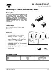 K814P/ K824P/ K844P Optocoupler with Phototransistor ... - Rockby