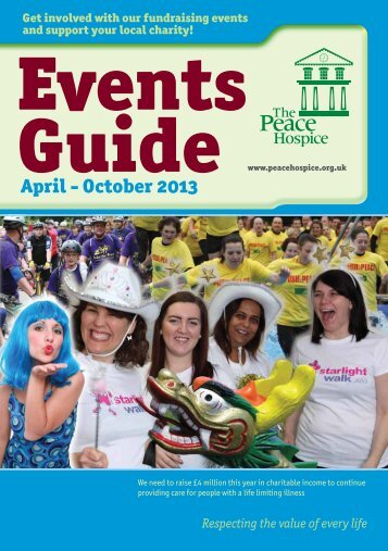 Events Guide April - October 2013 (pdf) - Peace Hospice