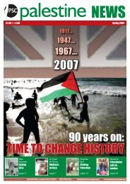 2007 time to change history - Palestine Solidarity Campaign
