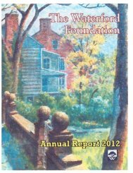 WFI 2012 Annual Report web - Waterford Foundation