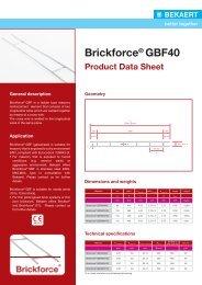 Data Sheet Brickforce® GBF40 - Bekaert