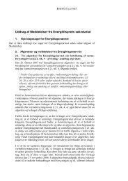 Uddrag af Meddelelser fra Energitilsynets sekretariat