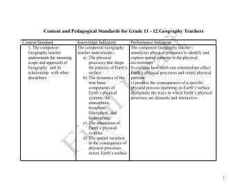 Content and Pedagogical Standards for Grade 11 - 12 ... - MOE