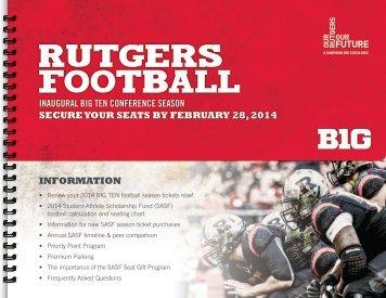student-athlete scholarship fund (sasf) seat gift program - Rutgers