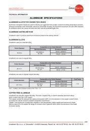 ALUMINIUM SPECIFICATIONS - Limatherm