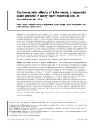 Cardiovascular effects of 1,8-cineole, a terpenoid oxide present in ...