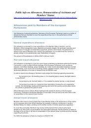 Public info on Allowances, Remuneration of Assistants and ...
