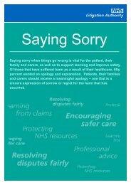 Saying Sorry - Leaflet