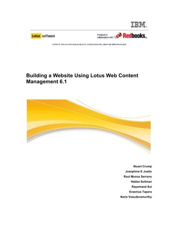 Building a Website Using Lotus Web Content Management 6.1