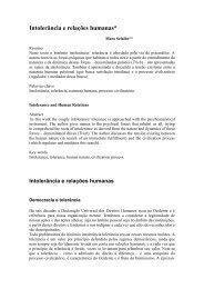 Intolerância e relações humanas - Diversitas - USP