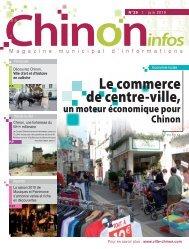 Le commerce de centre-ville, - Chinon