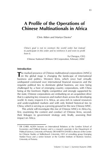 Journal July 2006-8.qxd - The Centre for Chinese Studies