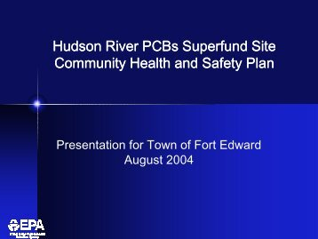 Community Health and Safety Plan - Hudson River - Community ...