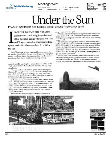 "Meetings West Magazine- ""Under the Sun"" - Sheraton Wild Horse ..."