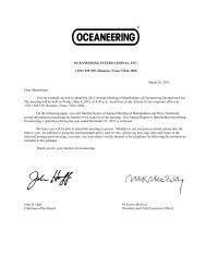 Proxy Statement dated March 26, 2012 - Oceaneering