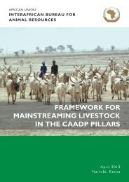 Action Plan for the development of livestock - CAADP