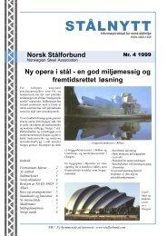 STÅLNYTT nr. 4 1999 - Norsk Stålforbund