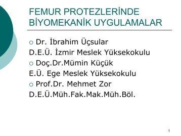 Dr. İbrahim ÜÇSULAR, Doç. Dr. Mümin KÜÇÜK, Prof.Dr.Mehmet ZOR