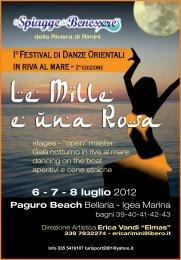 6 - 7 - 8 luglio 2012 - Spiagge del Benessere